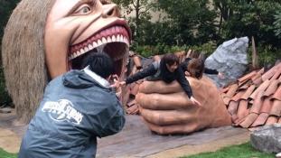 Le Parc d'attraction l'Attaque Des Titans The Real est ouvert au public