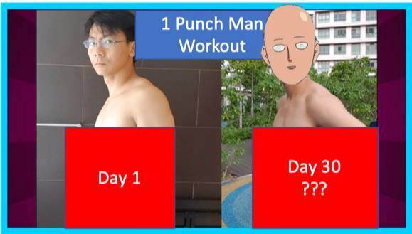 One Punch Man Challenge : Exercices de remise en forme et de musculation sur 30 jours