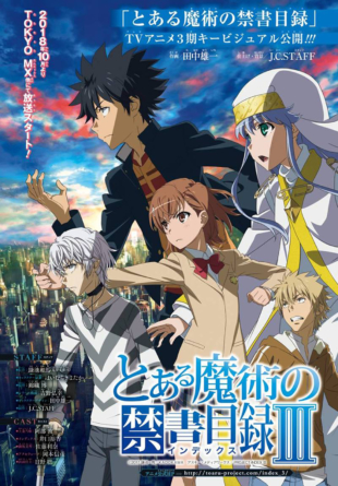 A Certain Magical Index: La saison 3 de l'anime débute en Octobre 2018