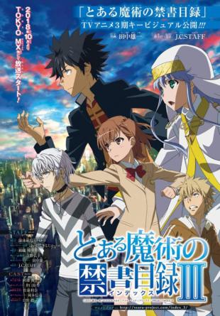 A Certain Magical Index: La saison 3 de l'anime débute en Octobre 2018