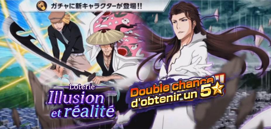 Bleach Brave Souls: La loterie de fin novembre, avec Shinji, Aizen et Kyôraku