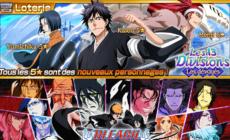 Bleach Brave Souls : Gameplays de la loterie de mi-février avec Kaien, Yumichika et Renji