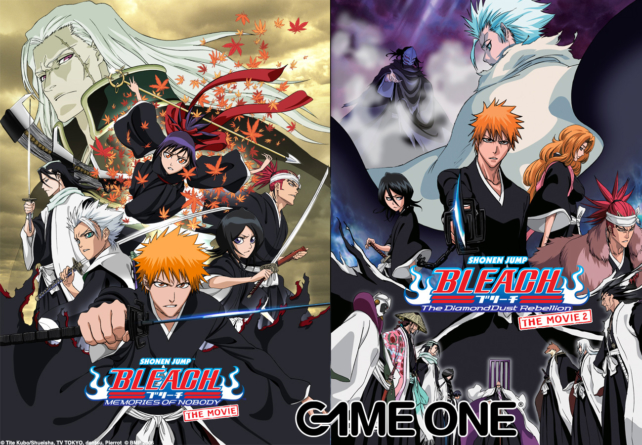 Les films Bleach 1 et 2 Memories of Nobody – The Diamond Dust Rebellion seront diffusés Dimanche 4 sur Game One