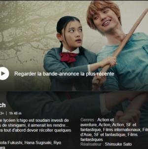 Le film live Bleach est maintenant disponible sur Netflix