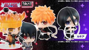 Bleach / Naruto Shippûden: Les Chimi-Mega Buddy d'Ichigo, Rukia, Naruto et Sasuke