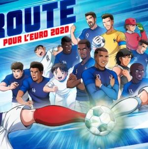 Captain Tsubasa (Olive et Tom) et l'équipe de France de football collaborent pour l'Euro 2020