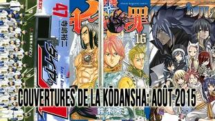 Couvertures de la Kōdansha: Mois de Août 2015