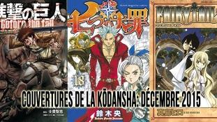Couvertures de la Kōdansha: Mois de Décembre 2015