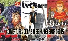 Couvertures de la Shueisha: Mois de Décembre 2015