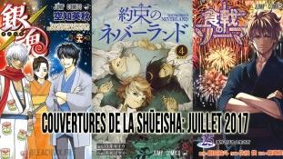 Couvertures des mangas la Shueisha: Mois de Juillet 2017