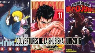 Couvertures de la Shueisha: Mois de Juin 2016