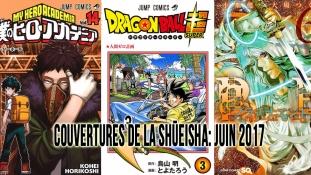 Couvertures des mangas la Shueisha: Mois de Juin 2017