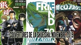 Couvertures de la Shueisha: Mois de Novembre 2015