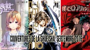 Couvertures de la Shueisha: Mois de Septembre 2016