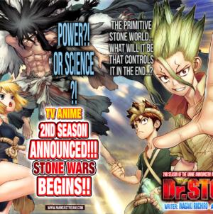 Dr. Stone : Teaser de la seconde saison de l'anime «Stone Wars»