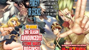"""Dr. Stone : Teaser de la seconde saison de l'anime """"Stone Wars"""""""