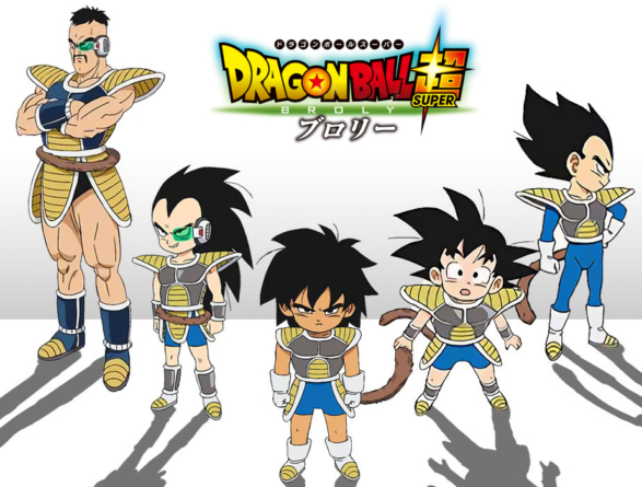 Dragon Ball Super – Broly: Chara design de Gokû, Broly, Vegeta et Raditz enfants et Nappa jeune