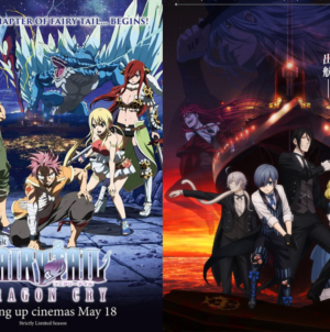 Netflix : Fairy Tail – Dragon Cry et Black Butler – Book of the Atlantic sont disponibles