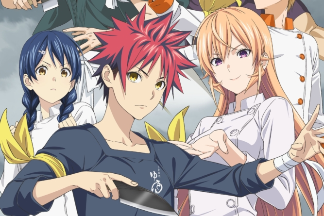 Food Wars! Shokugeki no Sōma Fourth Service : Nouvelle affiche de l'anime qui débute en octobre