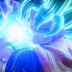 Jump Force: Goku et Vegeta SSGSS Vs Golden Feezer sous l'Arc de Triomphe
