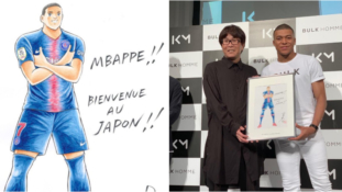 Kylian Mbappé devient un personnage de Captain Tsubasa (Olive et Tom)