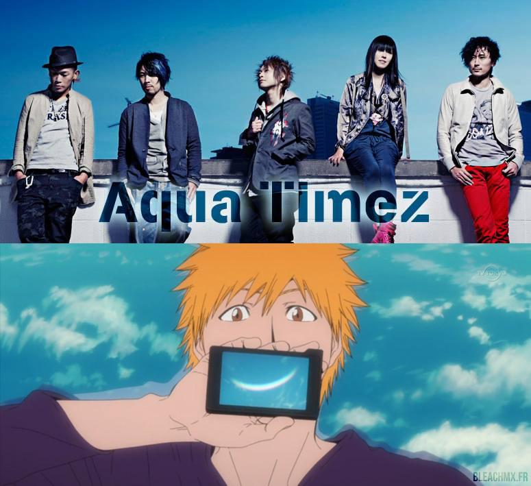 Le Groupe Aqua Timez (Bleach, Naruto Shippūden, Gintama