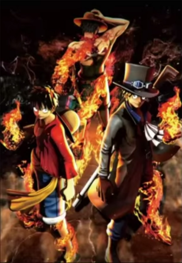 One Piece Burning Blood Poster