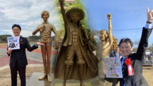 One Piece : Les statues de Sanji et Usopp offertes par Eiichiro Oda ont été inaugurées