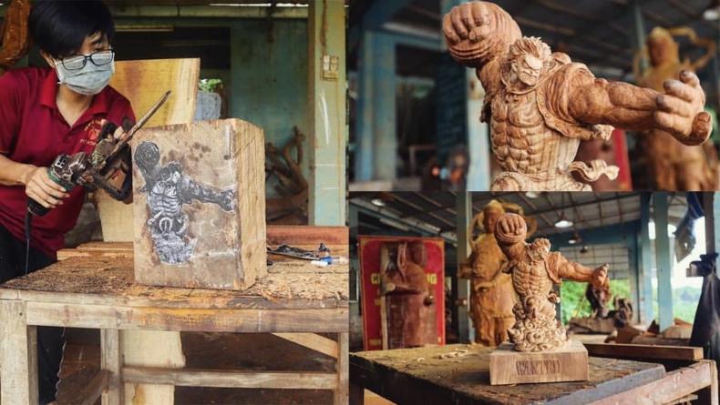 One Piece : Comment réaliser une sculpture en bois de Luffy Gear 4