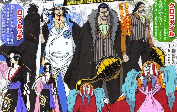 One Piece Stampede : Designs de Rob Lucci, Boa Hancock, Crocodile et Baggy