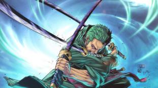 One Piece : Eiichiro Oda personnifie les trois sabres de Zoro