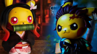 Pokémon X Demon Slayer (Kimetsu No Yaiba) : Les fusions de Tanjirô et Nezuko avec Pikachu