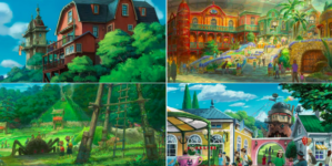 Studio Ghibli : Les croquis du parc à thème avec «Le Voyage de Chihiro», «Le Château ambulant» et d'autres