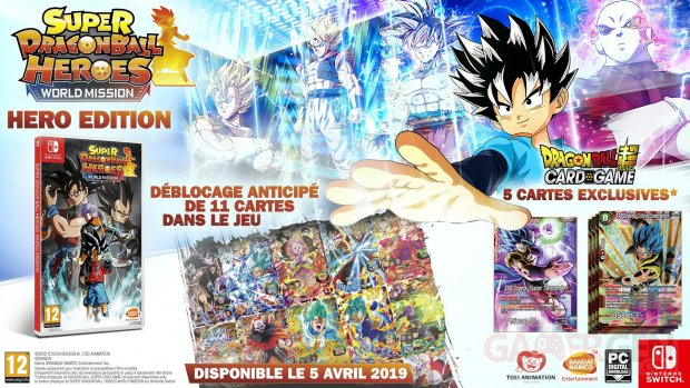 Super Dragon Ball Heroes : World Mission : L'Édition HERO offrira de véritables cartes exclusives
