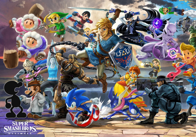 Super Smash Bros Ultimate Sans – Dibujos Para Colorear