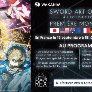Sword Art Online: Alicization: Avant-première d'une heure de l'anime en France