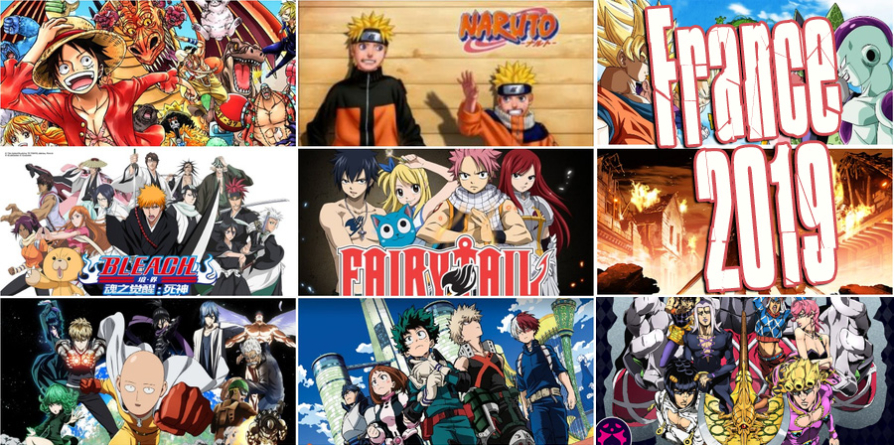 Bleach, One-Punch Man, My Hero Academia et One Piece dans le Top 10 des animes les plus visionnés de 2019 en France