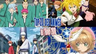 Top 20 des meilleurs animes de l'Hiver 2018 pour les japonais