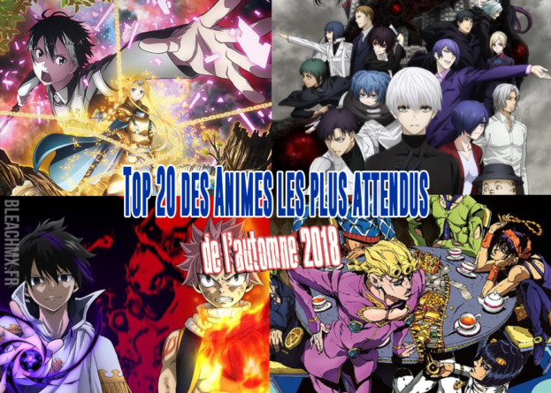 Top 20 des animes de l'automne 2018 les plus attendus par les japonais