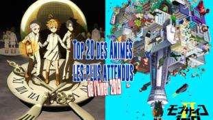 Top 20 des animes de l'hiver 2019 les plus attendus
