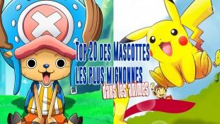 Top 20 des Mascottes les plus mignonnes dans les Animes