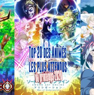 Top 20 des animes les plus attendus de la saison du printemps 2020