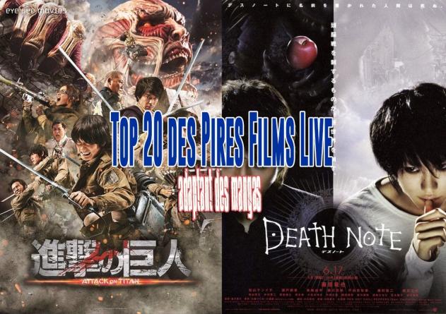 Top 20 des pires films live japonais adaptant des mangas