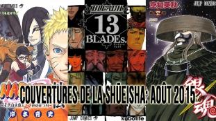 Couvertures de la Shueisha: Mois d'Août 2015