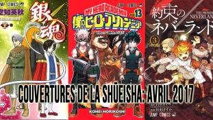 Couvertures de la Shueisha: Mois d'Avril 2017