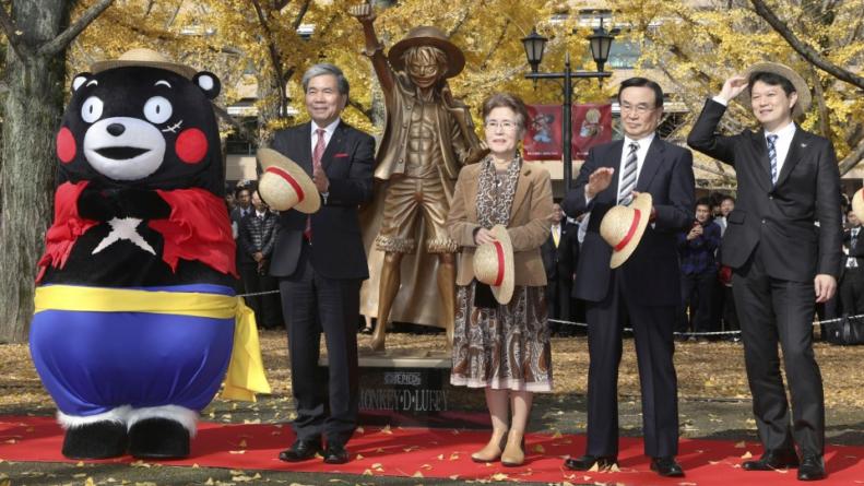 One Piece : Les statues des 8 autres Chapeau de Paille vont rejoindre celle de Luffy
