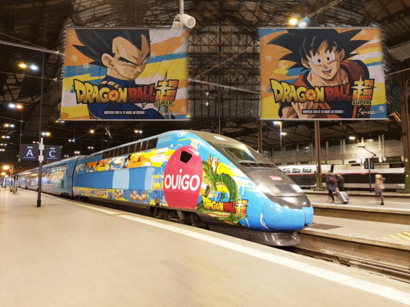 Dragon Ball Super : Les trains OUIGO x Dragon Ball et les gares sont là