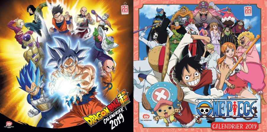 Dragon Ball Super et One Piece: Leurs calendriers 2019 sont disponibles