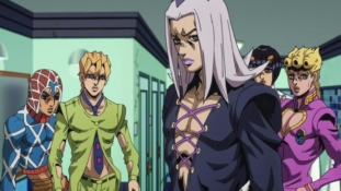 JoJo's Bizarre Adventure – Golden Wind épisode 9: « Le premier ordre du boss »