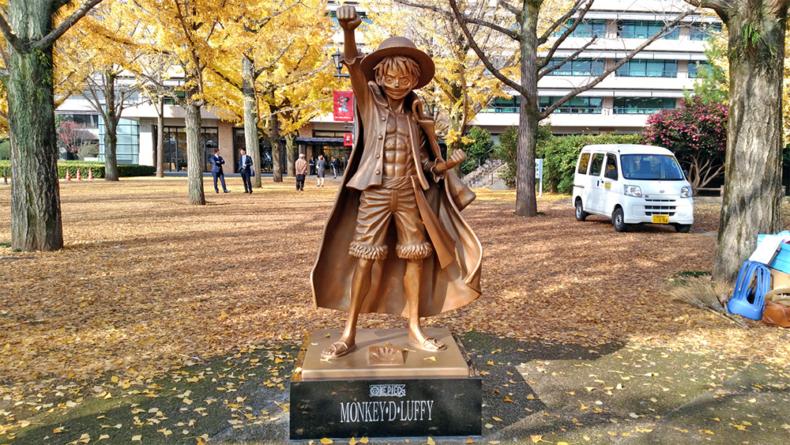 One Piece : Que signifie Eiichiro ? La statue de Luffy à Kumamoto